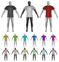Modèle de t-shirt uni sur mannequin torse vecteur
