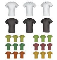 Ensemble de modèles de chemise polo mâle simple.