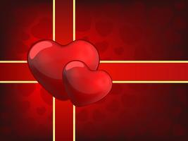 Deux coeurs - Saint Valentin vecteur