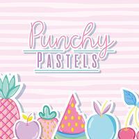 Punchy pastel concept branché vecteur