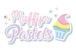 Muffins punchy pastels vecteur