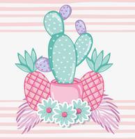Cactus Punchy Pastels vecteur