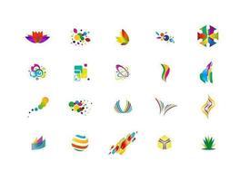 Graphisme de conception de logo vecteur