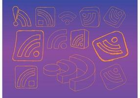 Rss feed logo graphics vecteur