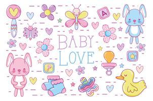 Carte d'amour bébé vecteur