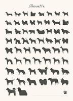 Différentes races de chiens spécimen Mega set. vecteur