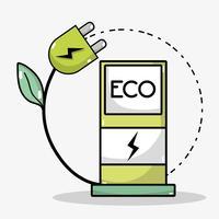 station d'énergie de recharge pour la batterie de voiture vecteur