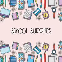 éducation fournitures scolaires conception backround
