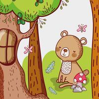 Ours dans la forêt vecteur