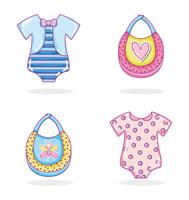 Collection de vêtements pour bébés vecteur