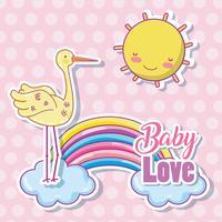 Caricature d'amour bébé vecteur