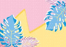 punchy pastel leavesbackground vecteur