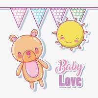 Dessins d'amour bébé vecteur