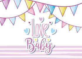 Amour bébé carte mignonne vecteur