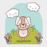 Dessin animé mignon doodle chien vecteur