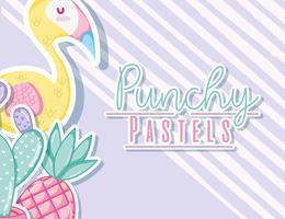 Concept de pastel punchy vecteur