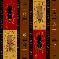 Modèle sans couture avec des masques africains tribaux. Ornement ethnique. Vecteur. vecteur