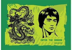 Entrez dans le dragon vecteur