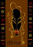 Masque. Ethnique. Exotique. African.Symbol. Ornement. Vecteur.