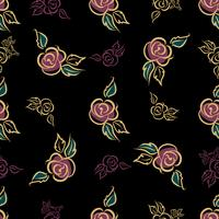 Modèle sans couture. Imprimé floral. Des roses. Décoratif. Vecteur