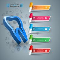 Infographie de l'entreprise. Icône de la dent. vecteur