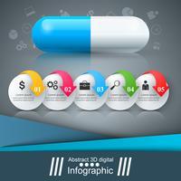 Comprimé de comprimé, infographie de pharmacologie.