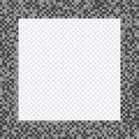 Cadre pixel monochrome, bordures vecteur