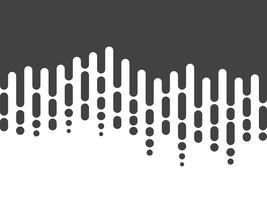Chute de lignes arrondies irrégulières noires et blanches dans le style des Mentis