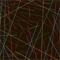 Texture aléatoire de lignes colorées chaotiques sur fond noir