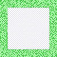 Cadre pixel vert, bordures vecteur