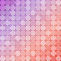 Fond géométrique de cercles, mosaïque ronde vecteur