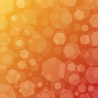 Fond de techno abstrait géométrique ensoleillé avec des hexagones vecteur