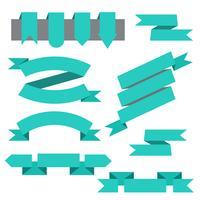 Ensemble de vecteurs de rubans, signets dans un style plat vecteur