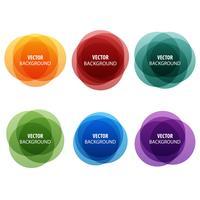 Bannières abstraites colorées de forme ronde vecteur
