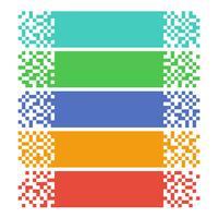 Bannières web pixel abstraites pour en-têtes