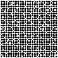 Fond minimal monochrome avec des points noirs et blancs