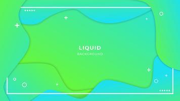 Abstrait liquide avec des formes simples avec une composition de dégradés tendance