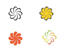 Plumeria beauté icône fleurs design illustration