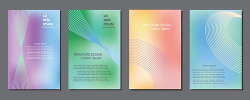 Business Covers avec des lignes géométriques vecteur