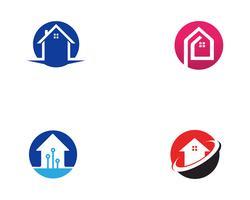 Accueil vecteurs de construction de logo vecteur
