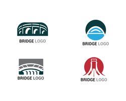 Création de modèles de logo et symbole vecteur pont