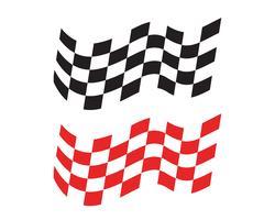 Icône de drapeau de course, logo de drapeau de course design simple vecteur