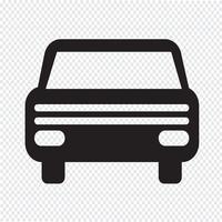 Signe de symbole d'icône de voiture vecteur