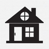signe de symbole icône maison vecteur
