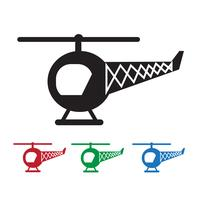 Hélicoptère icône symbole signe