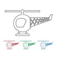Hélicoptère icône symbole signe vecteur
