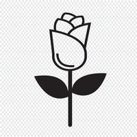 symbole de symbole icône rose vecteur