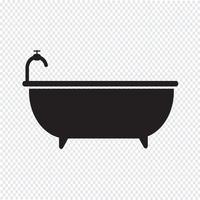Signe de symbole d'icône de baignoire