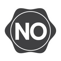 aucun signe de symbole de bouton vecteur