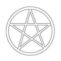 Pentagram icône symbole signe vecteur